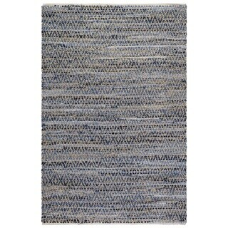 Fab Habitat Cotton & Jute Rug - Myrtle - Denim & Natural (6' x 9')