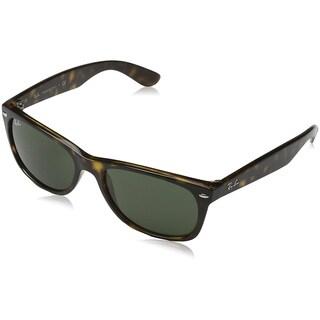 Ray-Ban New Wayfarer RB2132 Unisex Tortoise Frame Green Classic 52mm Lens Sunglasses