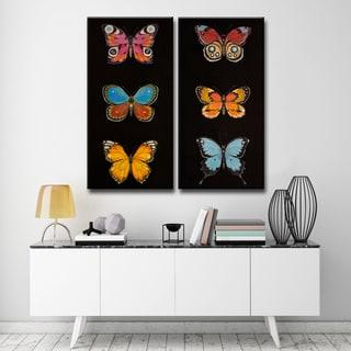 Ready2HangArt 2 Piece Wall Art Set 'Butterfly Trio I/II' by Hope Hansen