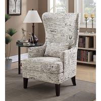 Shop Furniture Of America Scrolli Script Printed Fabric