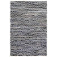 Handmade Fab Habitat Cotton & Jute Rug - Myrtle - Denim & Natural (India) - 3' x 5'