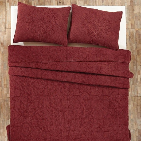 Cheyenne Cotton American Red Quilt (Shams Not Included)