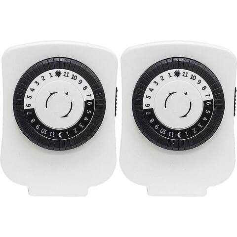 GE Indoor Plug-In Basic Timers 2-Pack (White) 15417