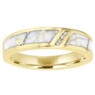 La Vita Vital 14K Yellow Gold & Gold Quartz Inlay and Diamond Ring 0.07ct TDW (SI1-VS, G-H) https://ak1.ostkcdn.com/images/products/15635218/P22066491.jpg?impolicy=medium