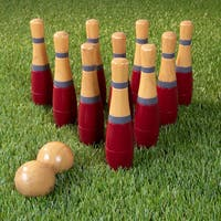 Lawn Bowling, 8 inch Wooden Lawn Game by Hey! Play!