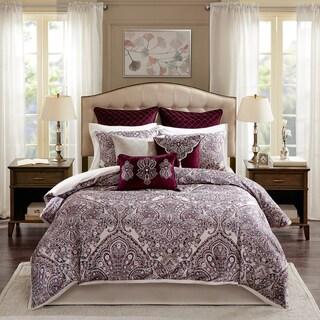 Bombay Patterson Merlot Jacquard Bedding Set