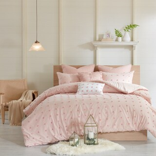 Maison Rouge Amelie Pink Cotton Jacquard Duvet Cover Set