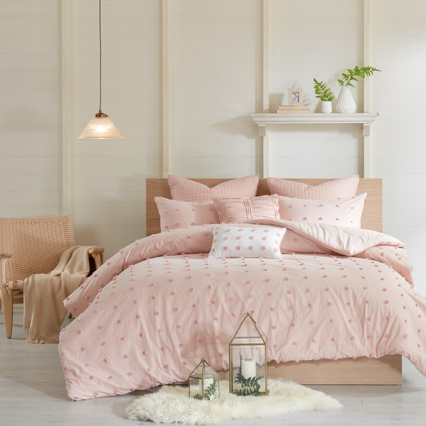 Urban Habitat Maize Pink Cotton Jacquard Comforter Set