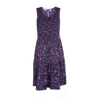 River & Rose Ladies Rayon Printed Smocked Dress