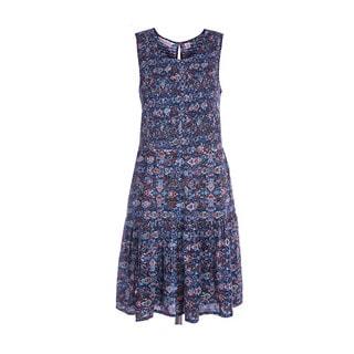 River & Rose Ladies Printed Smocked Dress
