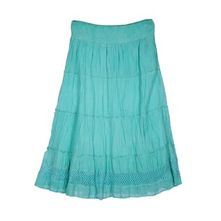 River & Rose Ladies Smocked Waist Band 4-Tier Skirt
