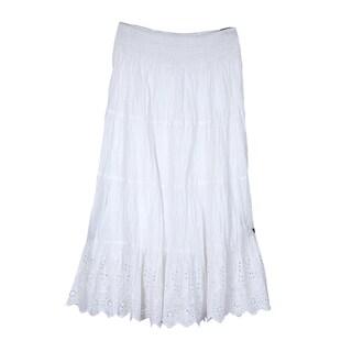 River & Rose Ladies Smocked Waist 4-Tier Schieffle Skirt