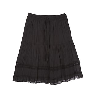 River & Rose Ladies 3-Tier Knee Length Skirt