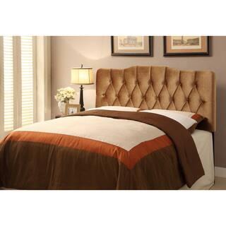 Tufted Bronze Velvet Fabric King Size Upholstered Headboard
