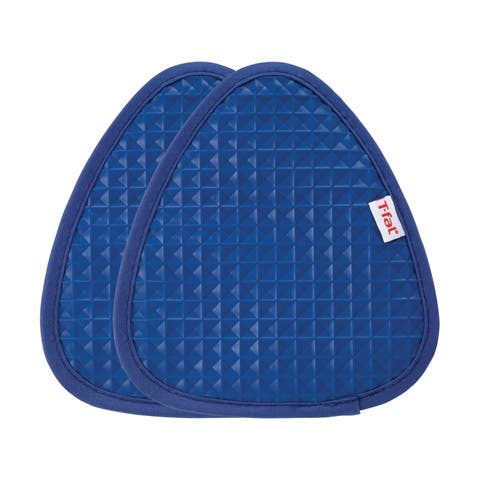 T-fal Textiles 2 Pack Soft Flex Waffle Silicone Pot Holder Set