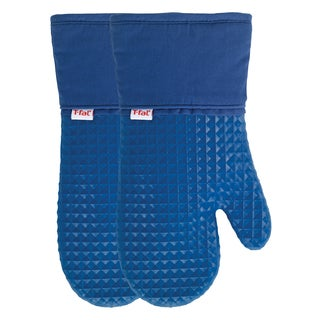 T-fal Textiles 2 Pack Soft Flex Waffle Silicone Oven Mitt Set (More options available)