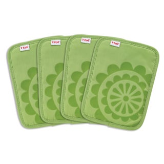 T-fal Textiles 4 Pack Print Silicone Medallion Cotton Twill Pot Holder Set (Option: Green)
