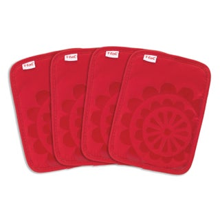 T-fal Textiles 4 Pack Print Silicone Medallion Cotton Twill Pot Holder Set (More options available)