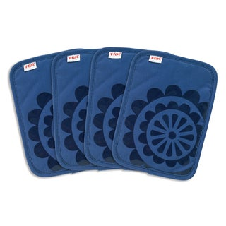 Link to T-fal Textiles 4 Pack Print Silicone Medallion Cotton Twill Pot Holder Set Similar Items in Cooking Essentials