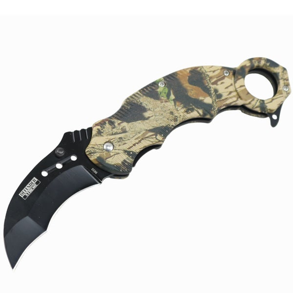 "Defender-Xtreme 7.5"" Ball Bearing Folding Knife Tactical Rescue With Belt Clip"