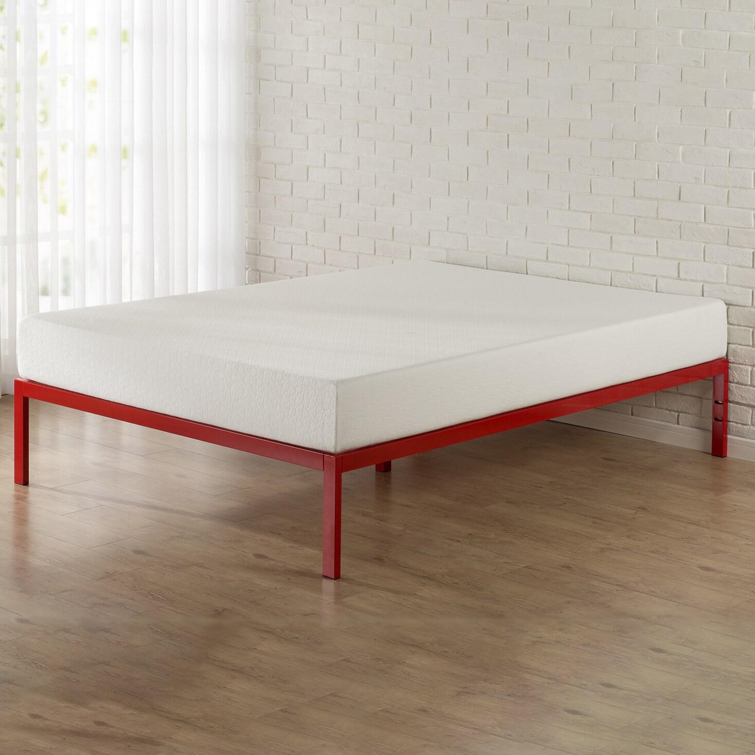 Priage 1500 Red Platform Bed Frame (Full)
