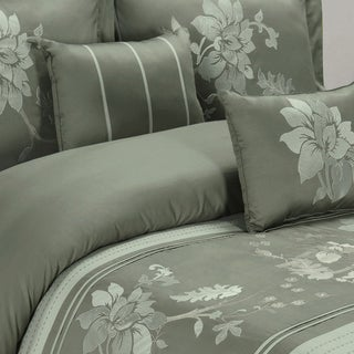 5-piece Myra Cotton Grey Duvet Cover Set