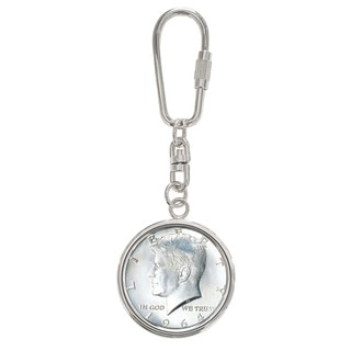 First Year of Issue 1964 Silver JFK Half Dollar Keyring