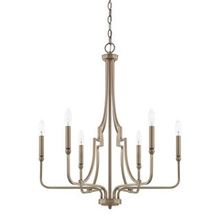 Capital Lighting Dawson Collection 6-light Aged Brass Chandelier