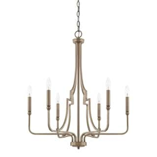 Capital lighting ceiling lights for less overstock capital lighting dawson collection 6 light aged brass chandelier aloadofball Image collections