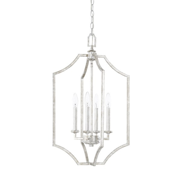 Capital Lighting Oxford Collection 4 Light Silver Patina Foyer Pendant