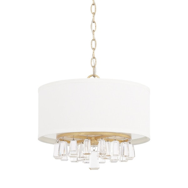 Capital lighting milan collection 4 light capital gold pendant