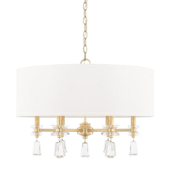 Capital lighting milan collection 6 light capital gold pendant