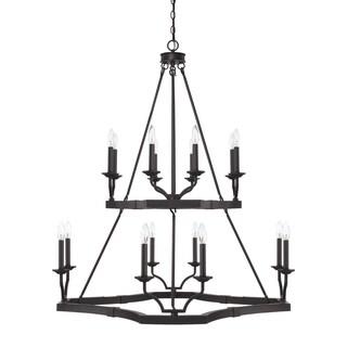 Capital Lighting Ravenwood Collection 16-light Black Iron Chandelier