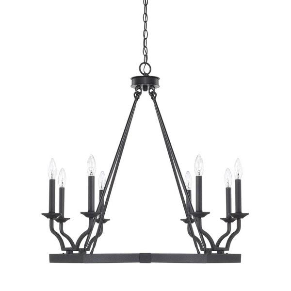 Capital Lighting Ravenwood Collection 8 Light Black Iron Chandelier