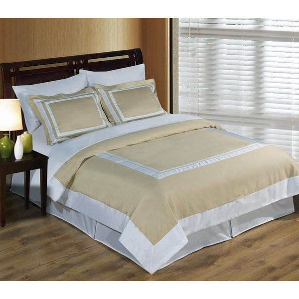 Hotel 100-percent Cotton Linen / White Duvet Cover Set