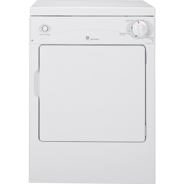 """GE DSKP333ECWW Spacemaker 24"""" Portable Electric Dryer"""