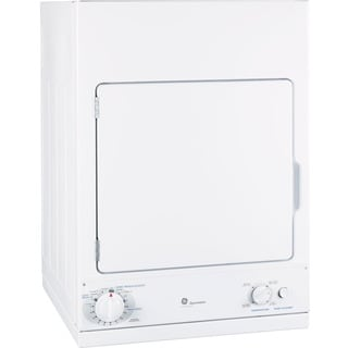 "GE DSKS433EBWW Spacemaker 24"" Electric Dryer"