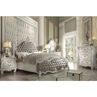 Superstar Sleigh White Wood Bed