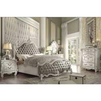 Superstar Sleigh White Wood Bed