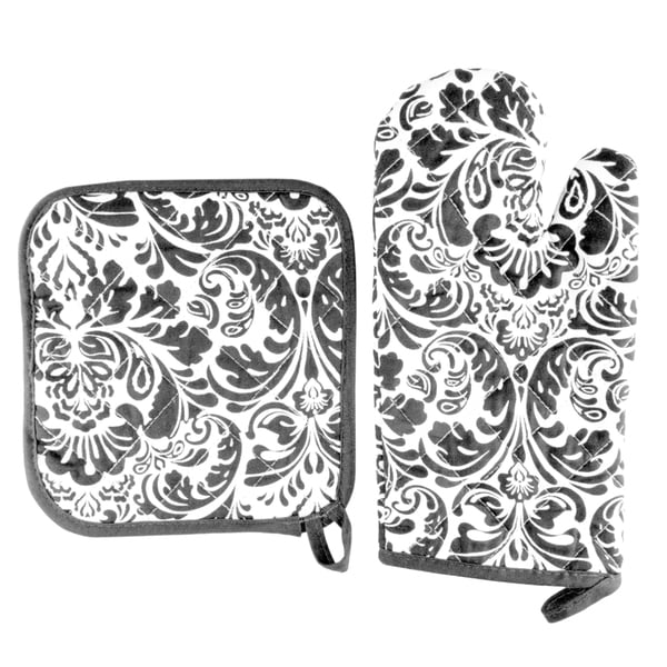 Oven Mitt and Pot Holder Set, Quilted and Flame and Heat Resistant by Windsor Home. Opens flyout.