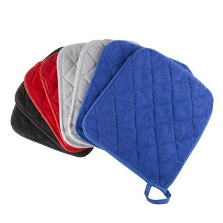 Pot Holder Set, 2 Piece Oversized Heat Resistant Quilted Cotton Pot Holders By Windsor Home (4 options available)