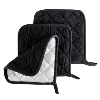 Pot Holder Set, 3 Piece Set Of Heat Resistant Quilted Cotton Pot Holders By Windsor Home|https://ak1.ostkcdn.com/images/products/15635908/P22067086.jpg?impolicy=medium