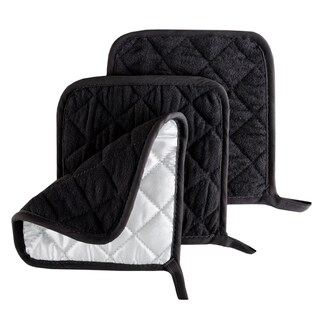 Pot Holder Set, 3 Piece Set Of Heat Resistant Quilted Cotton Pot Holders By Windsor Home (3 options available)