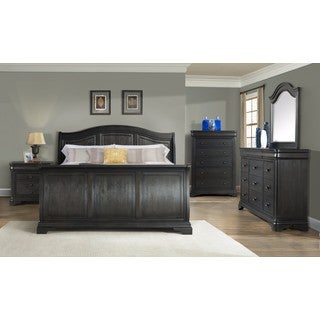 Picket House Furnishings Conley Charcoal Sleigh Bed