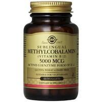 Solgar Methylcobalamin Vitamin B12 5000 mcg (60 Nuggets)