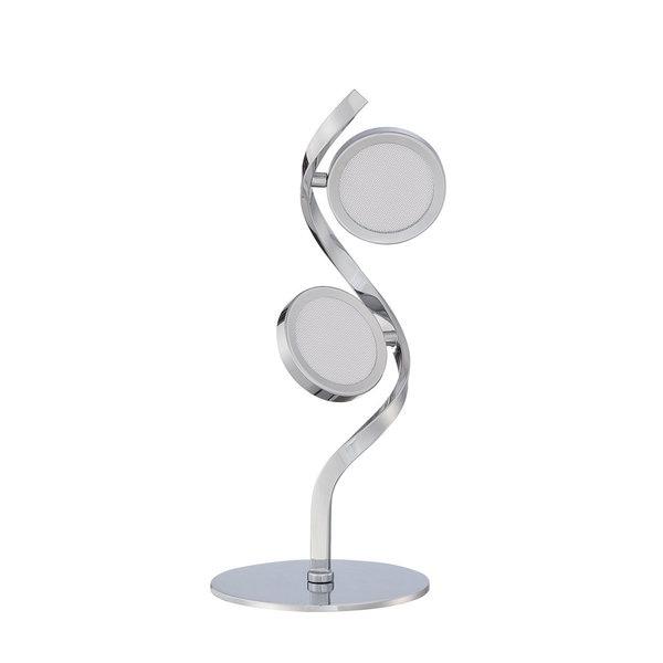 Milan Series Chrome 17-inch LED Table Lamp