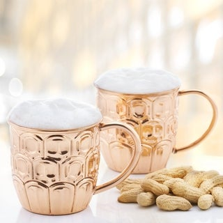 Solid Copper Beer Krugs (Set of 2)