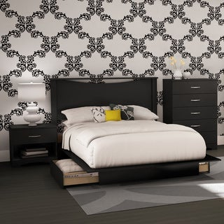 4 Piece Full Size Bedroom Set In Black Or Brown