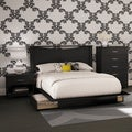 South Shore Step One 4-Piece Bedroom Set, Full, Pure Black