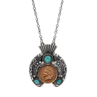 Indian Penny Ornate Headdress Necklace